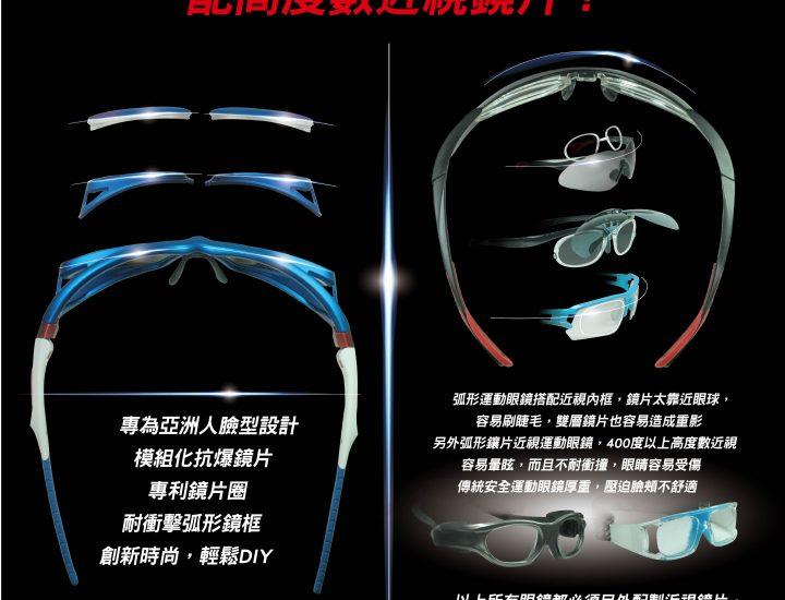 黑貂SABLE 近視運動眼鏡 SP-802 使用說明